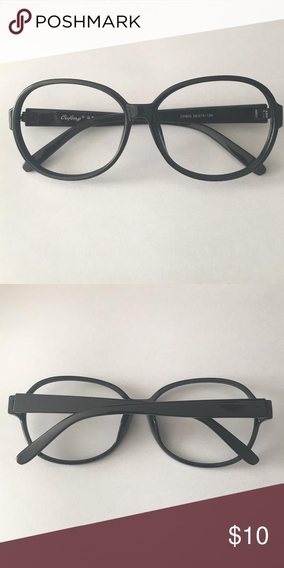 New Black Plastic round eyeglasses frame New Black Plastic ...