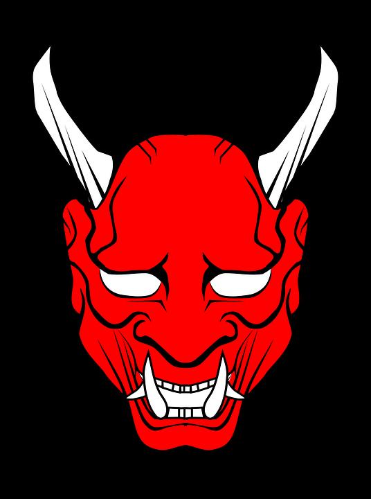 Image Result For Satanic Vector Free Mascara Oni Mitologia Japonesa Ilustracoes Vetoriais