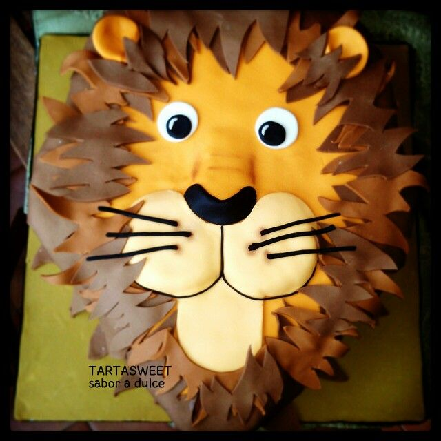Cutest lion cake leos 1birthday Pinterest Lion cakes Lions