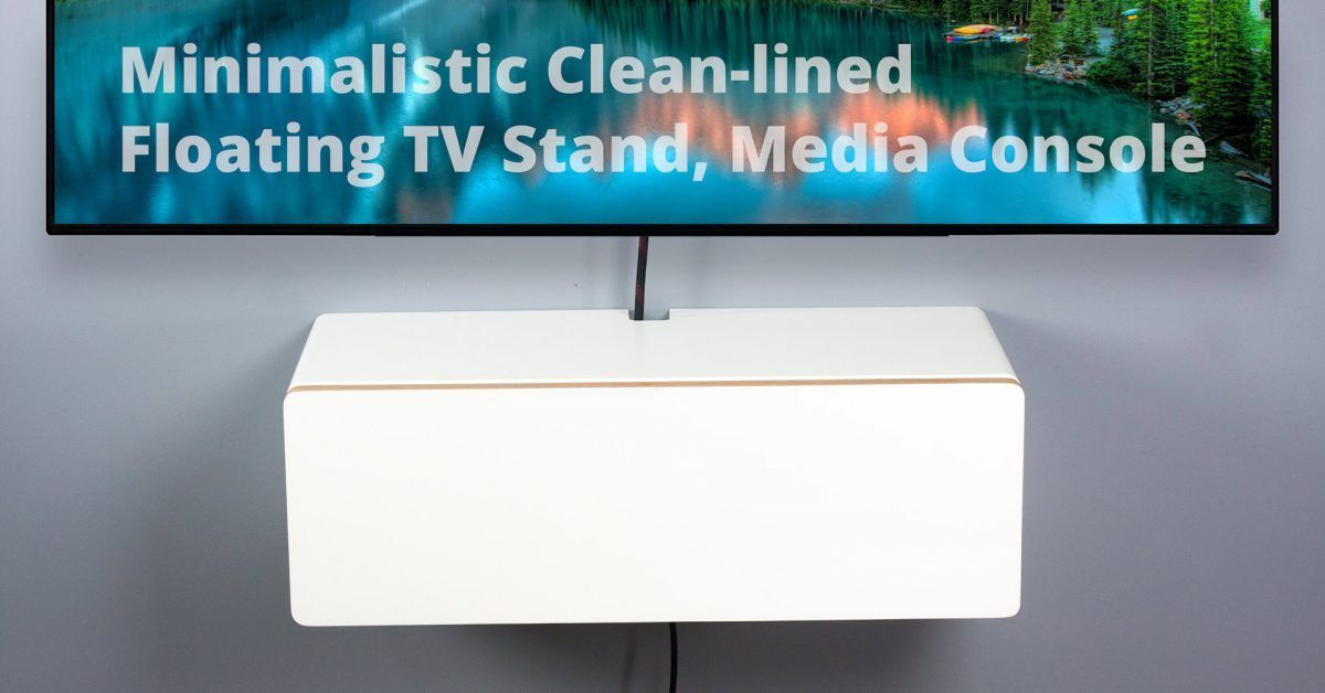 Blanca Small Floating Medium Console Wall Mount Tv Stand