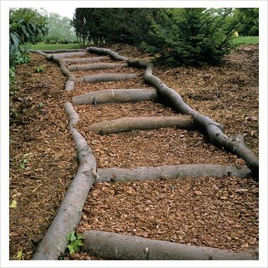 Best Very Very Informal Steps Made By Staking Logs In Place 400 x 300