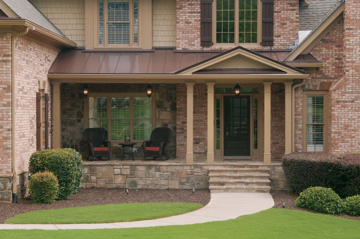 Partial Front Porch Designed And Built By Georgia Front Porch Front Porch Design Porch Design Front Porch Stone