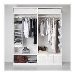 Kleiderschrank ikea pax  PAX Kleiderschrank, weiß, Hasvik weiß - - - 200x66x236 cm - IKEA ...