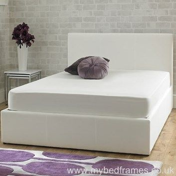 Stirling Ice White Ottoman Bed Frame From Mybedframes Co Uk
