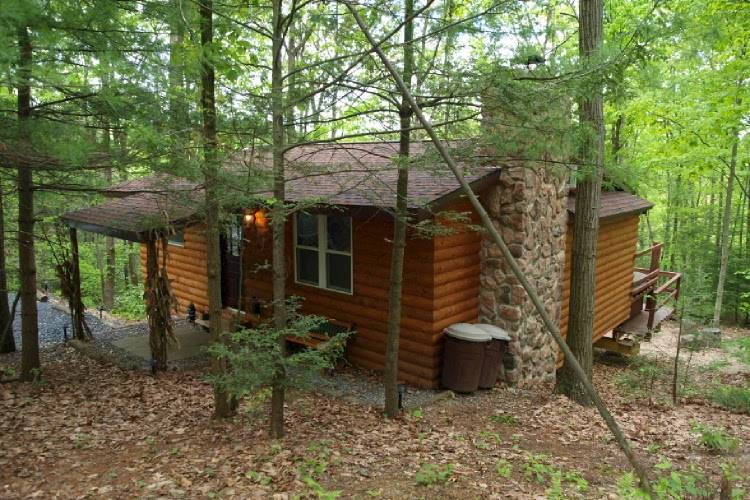 Rentals In The Poconos Kunkletown Logged Cabin With New