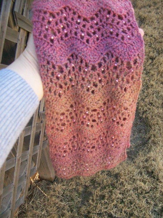 Chevron Scarf Pattern Crochet Crochet Pattern Pdf File Beaded