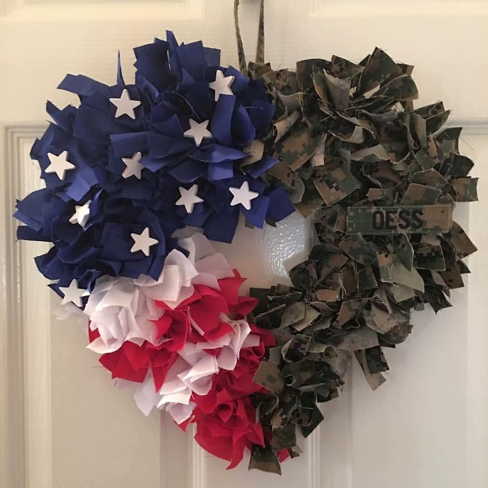 4th Of July Fabric Wreath