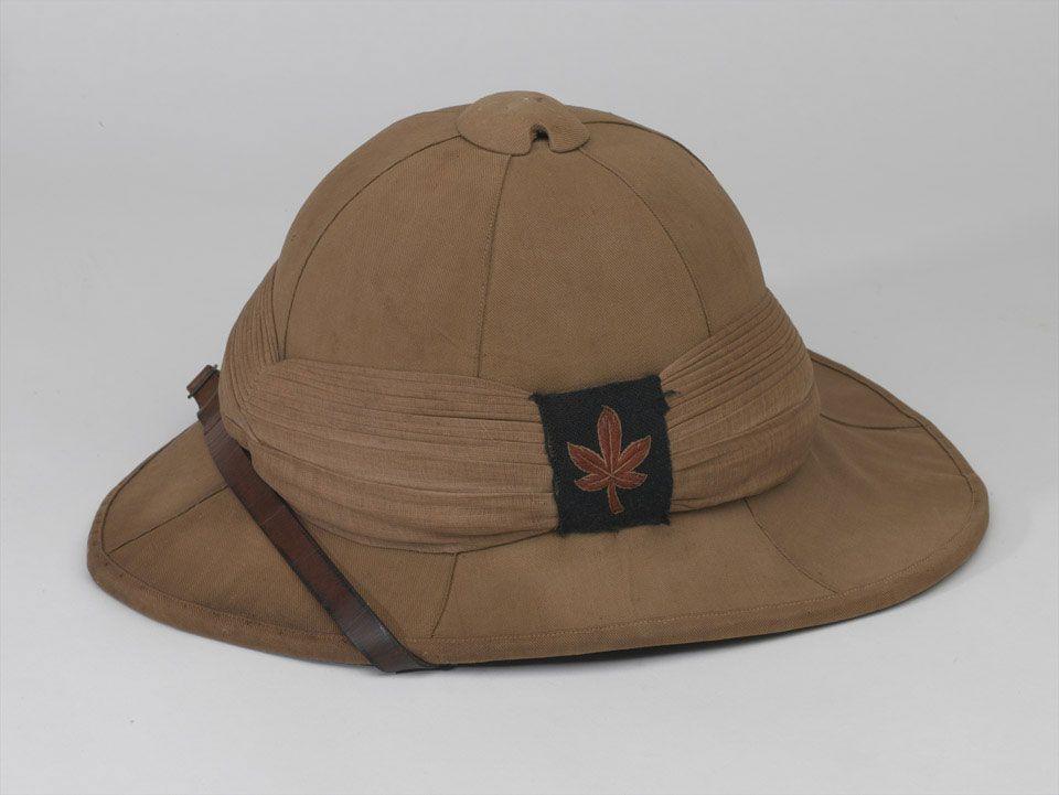 03324b5aa83b5 Wolseley helmet, Lance-Corporal C K Thompson, Prince of Wales's Leinster  Regiment (Royal Canadians), 1916 (c)
