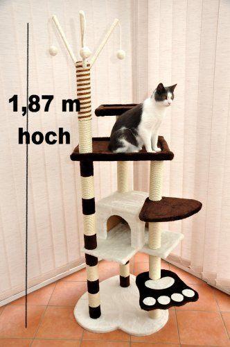 Kratzbaum / Katzenkratzbaum CESAR - GRAU/BRAUN - 187 cm hoch - 40143 - http://www.kratzbaum-bestellen.de/produkt/kratzbaum-katzenkratzbaum-cesar-graubraun-187-cm-hoch-40143/