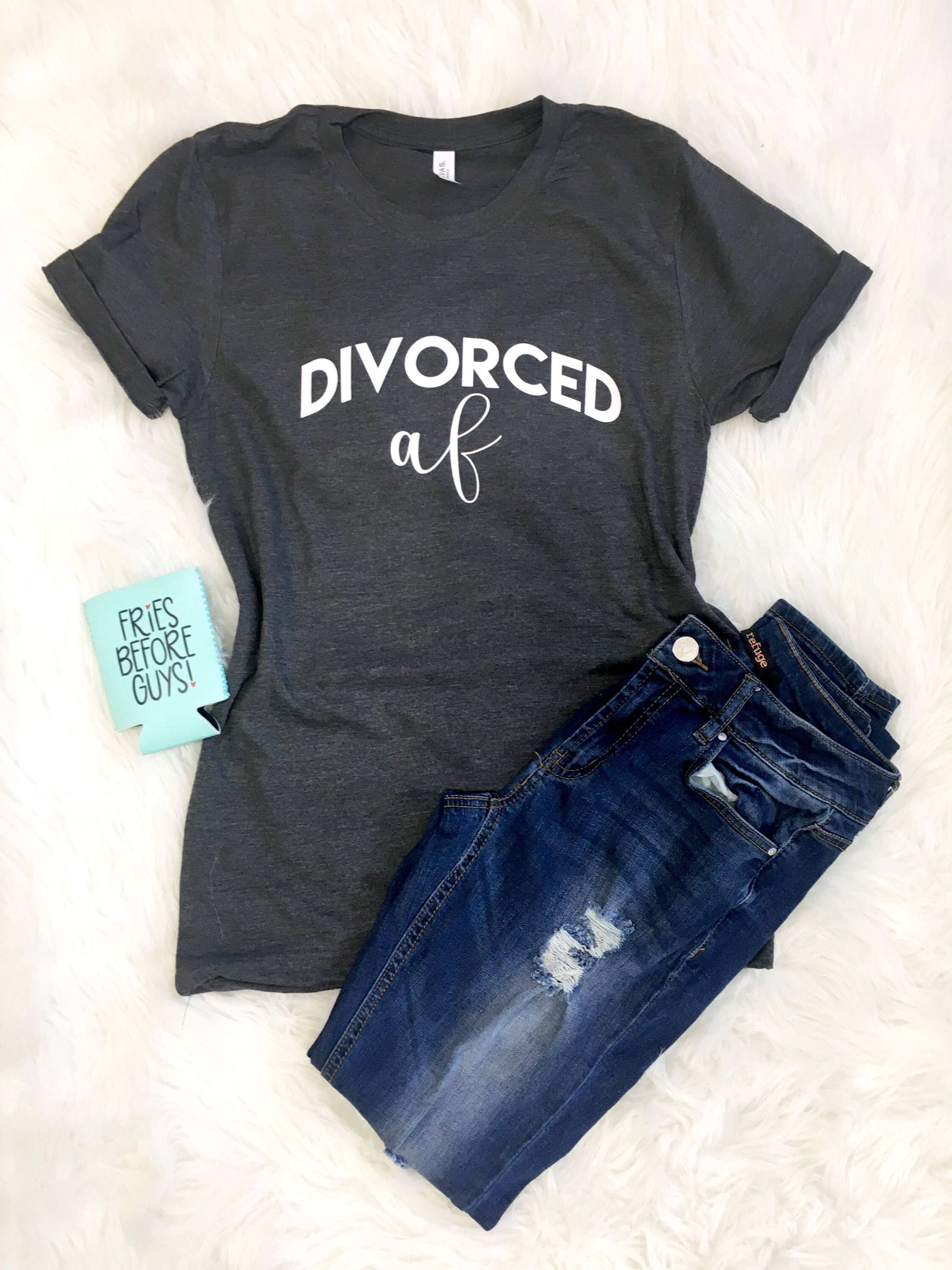 41dbd2adc Excited to share the latest addition to my #etsy shop: Divorced AF Shirt  for Women, Divorced shirt, Divorced AF Shirt, Graphic tee, AF t-shirt, ...