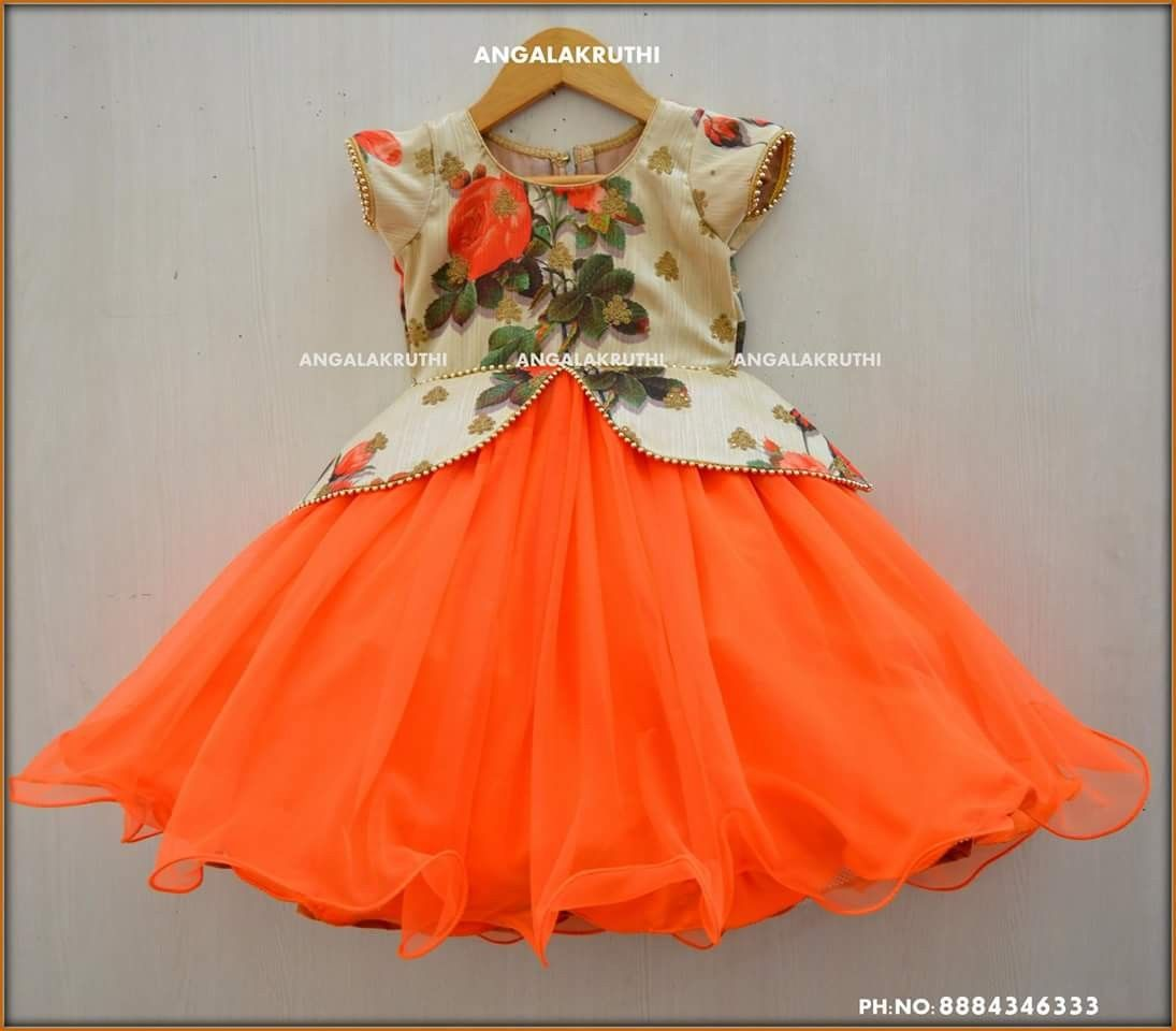 Kids Custom Designs By Angalakruthi Boutique Bangalore Party Wear Dress