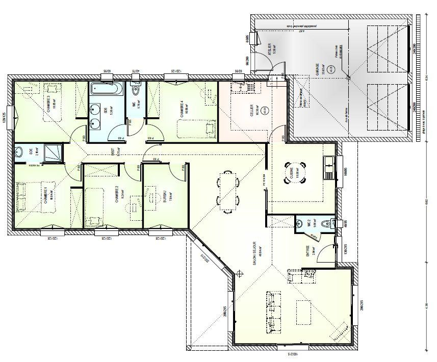Plan Maison 160m2 Xec59 Napanonprofits