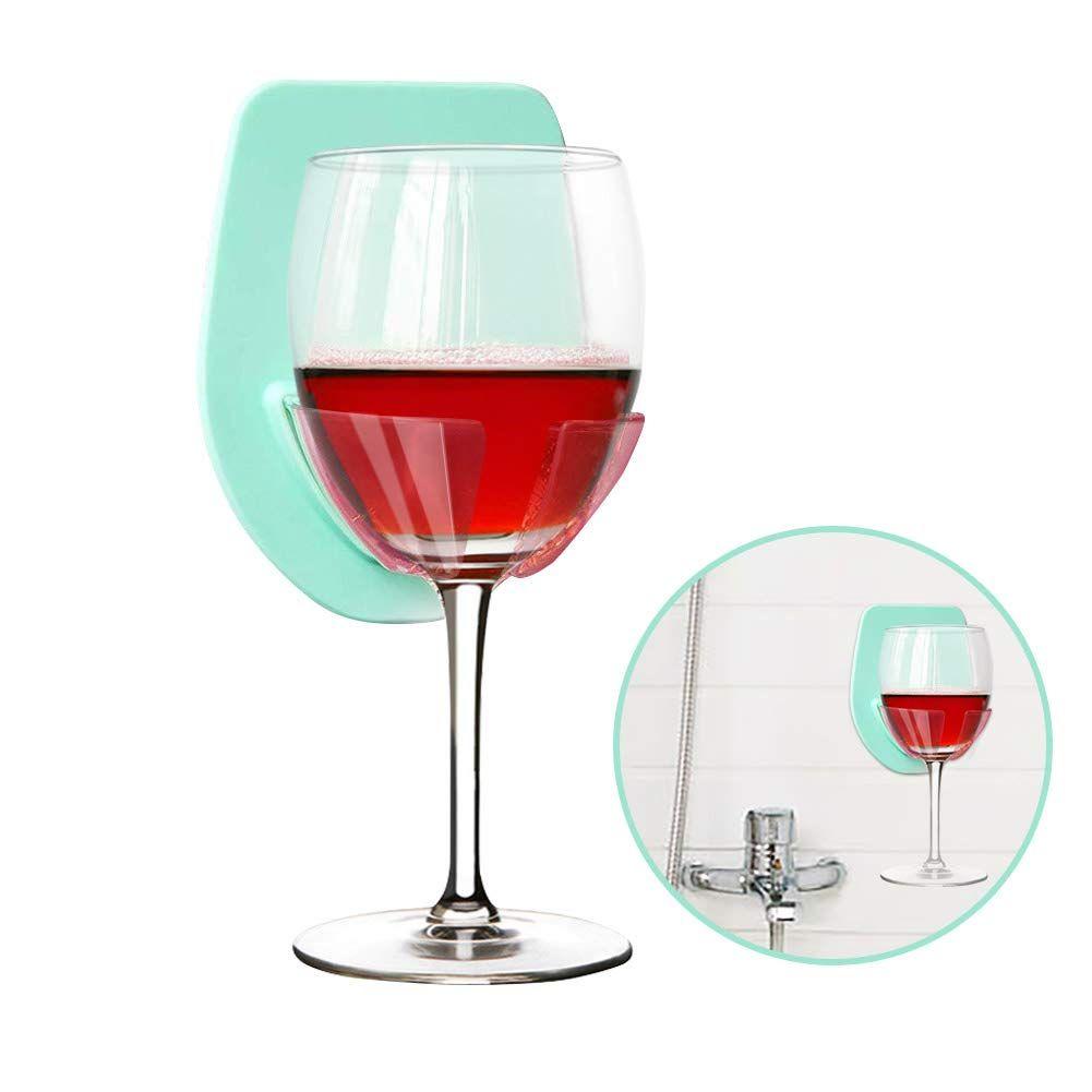Gotega Wine Glass Holder Shower Bath Suction Cup Wine Gifts Relaxation Blue In 2020 Wine Glass Holder Wine Gifts Wine Glass