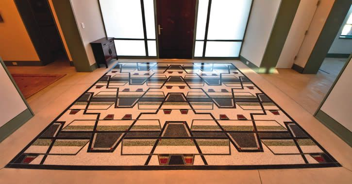 A Lovely Modern Terrazzo Floor In A Private Utah Residence