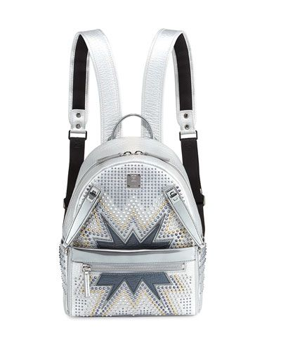cb9752d1f971 MCM Dual Stark Cyber Studs Small Backpack.  mcm  bags  leather  lining   backpacks