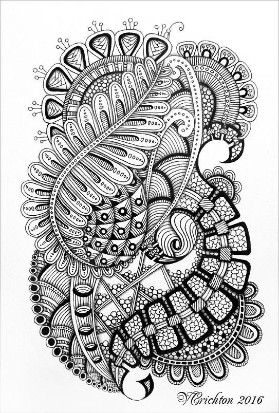Zentangle Art Gelpen Viktoriya Crichton Zentangle Artwork