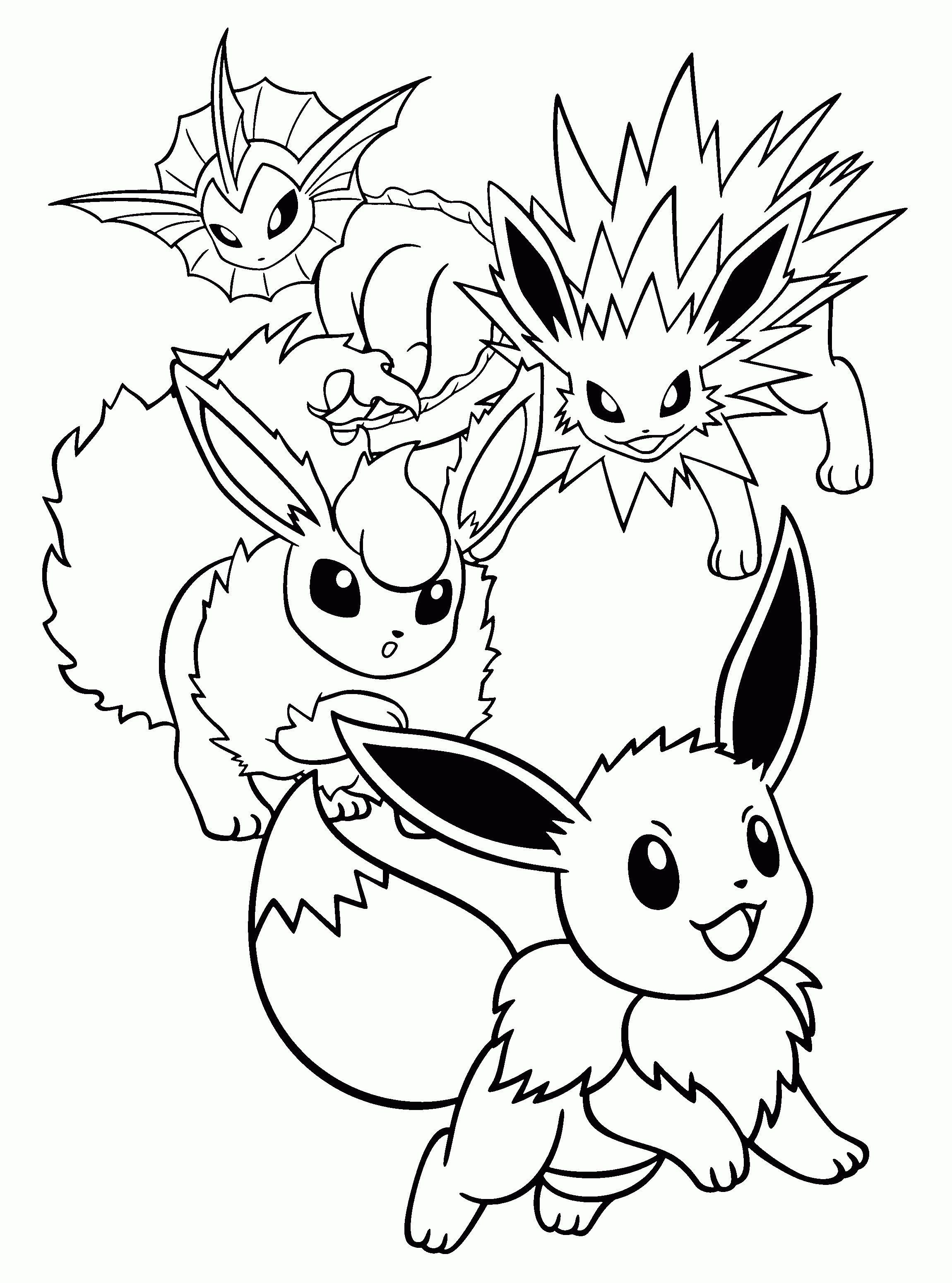 Quatang Gallery - Print Pokemon Eevee Evolutions List Coloring Pages Pokemon Coloring Pages Pokemon Coloring Sheets Cartoon Coloring Pages