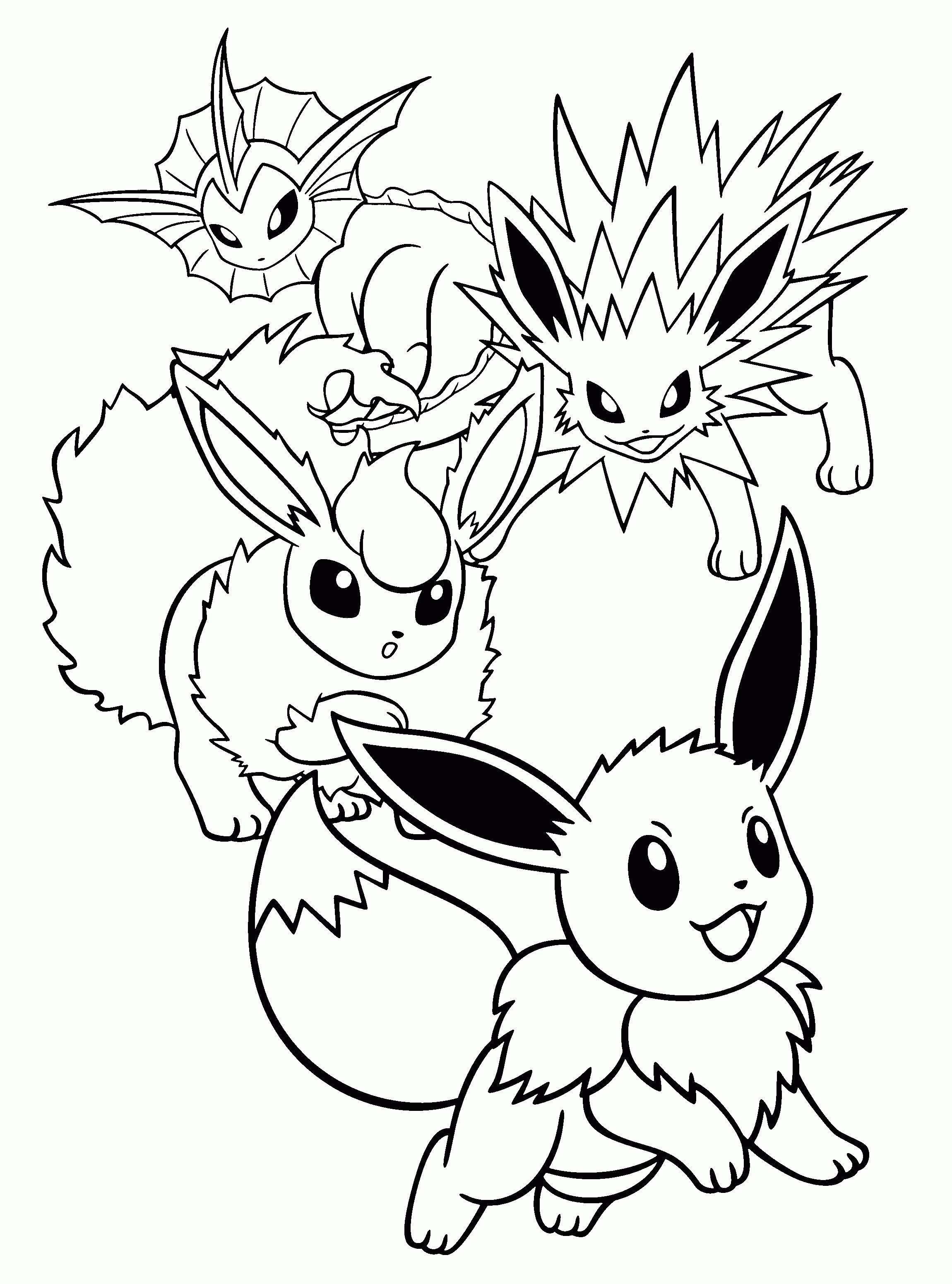 Pokemon Kleurplaat Van Flareon Horse Coloring Pages Cute