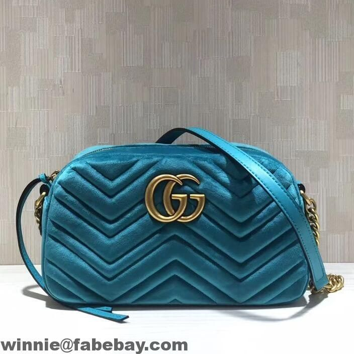 7088921bb Gucci GG Marmont Velvet Small Camera Shoulder Bag 447632 2017 ...