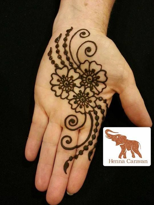 Simple Palm henna design , for more visit the Stained ... |Simple Henna Palm Designs