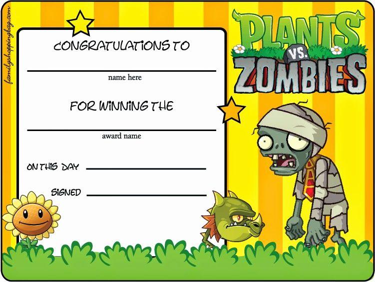 Plants Vs Zombies Invitation Template Fresh Plants Vs Zombies Free Printables Oh My Fi Zombie Birthday Plants Vs Zombies Birthday Party Zombie Birthday Parties