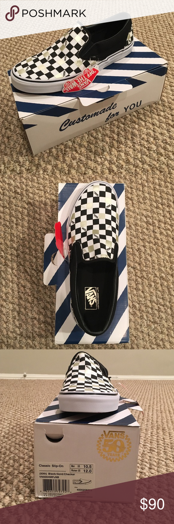 6276f95b26 RARE vans 50th anniversary slip on shoes Limited edition vans and brand new  with tags! Receipt available. hmu if you have any questions also very open  to ...