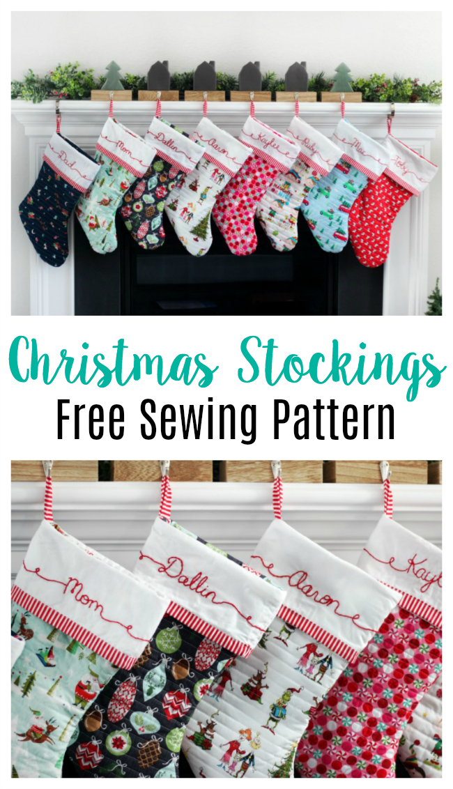 picture about Free Printable Christmas Sewing Patterns called Cuffed Xmas Stocking Practice: No cost Pdf Xmas