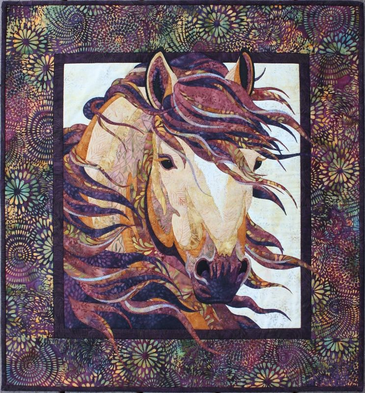 Toni Whitney Design Summer Breeze Horse Applique Quilt