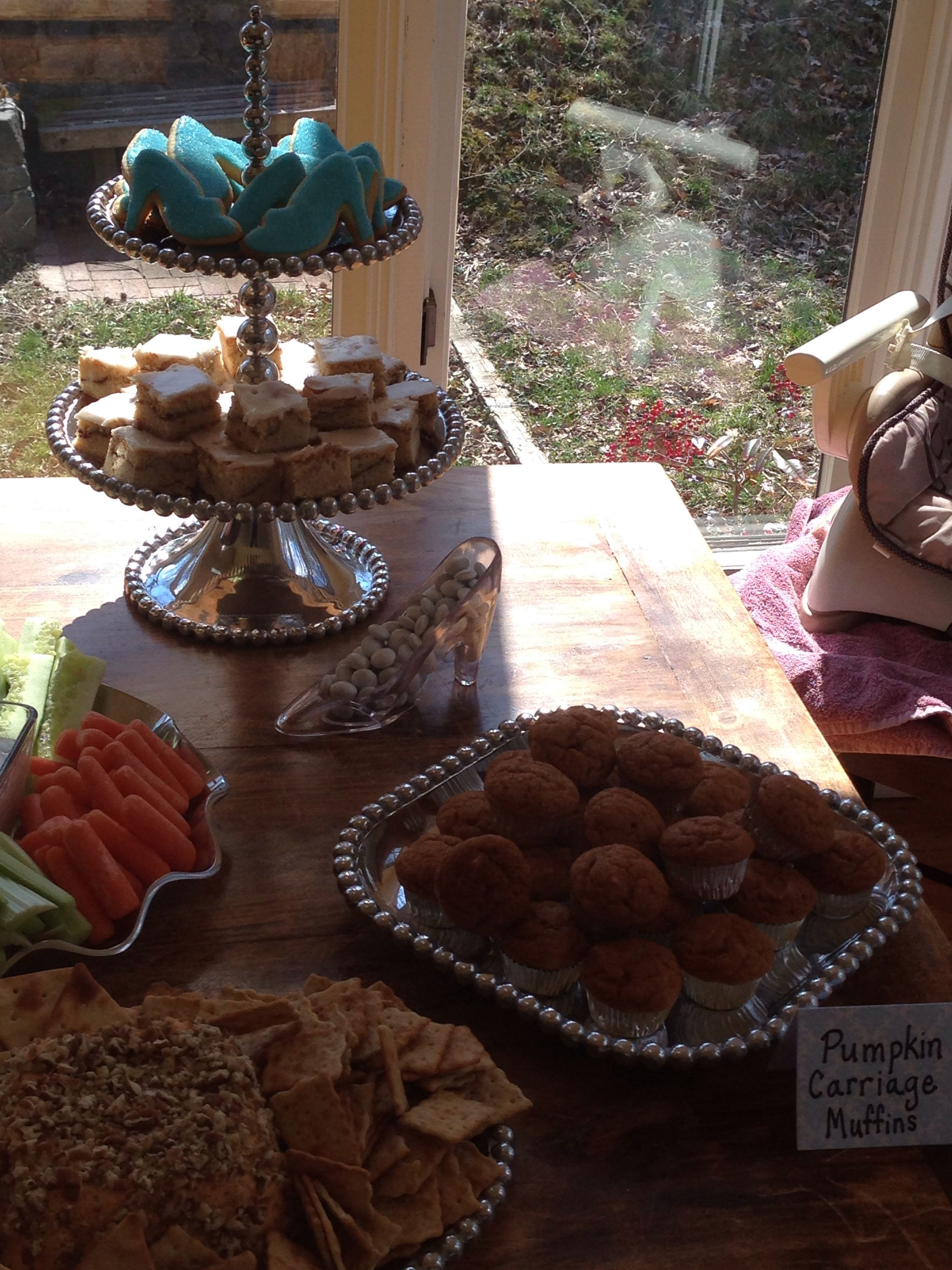 Cinderella party food- pumpkin carriage muffins (pumpkin muffin ...
