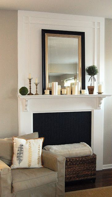 Love this one - Simple DIY instructions too - Think I'd keep the wainscot white in our front room, though