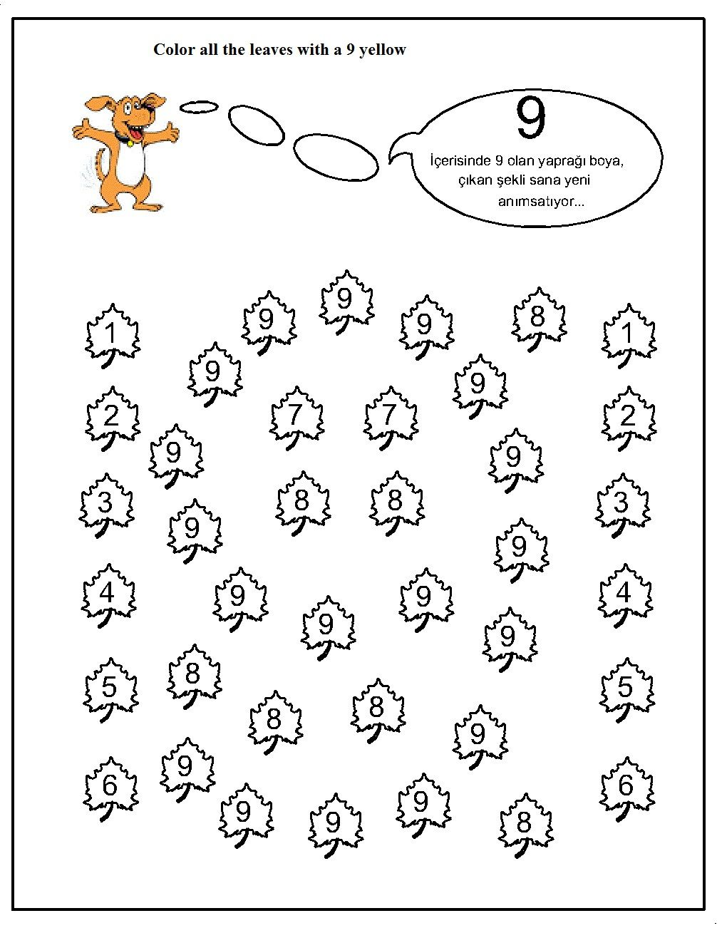 number hunt worksheet for kids (17) | Crafts and Worksheets for ...