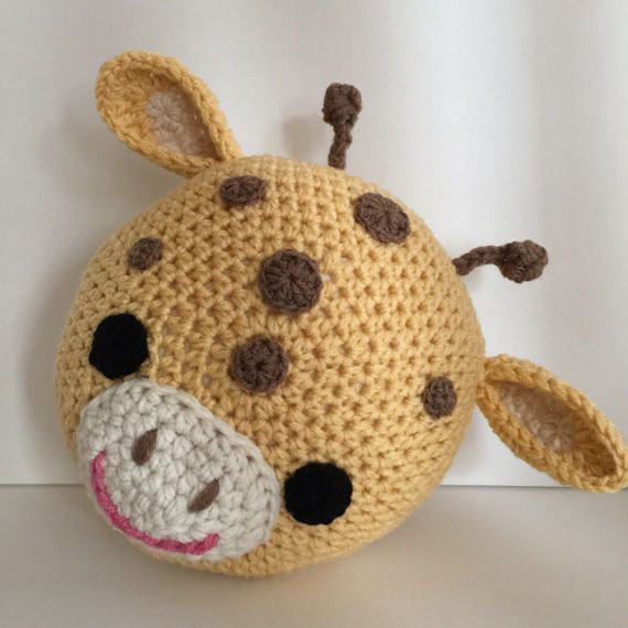Crochet Giraffe pillow crochet pillow Giraffe pillow | Cojines ...