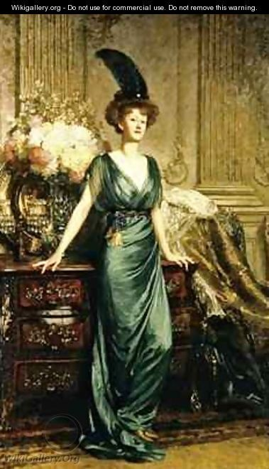 Portrait of the Honorable Mrs Ernest Guiness - Sir Frank Dicksee