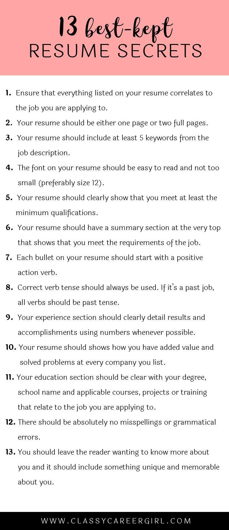 the 13 best kept resume secrets startups tossed and career