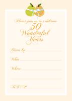 Free 50th Wedding Anniversary Invitation Template Diy Craft