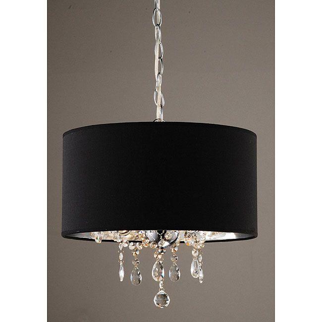 Indoor 3 Light Black Chrome Pendant Chandelier