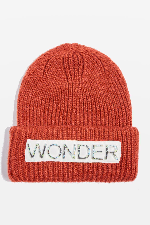 Red  Wonder  Slogan Fisherman Beanie Hat - Hats - Bags   Accessories -  Topshop b24cf530e871