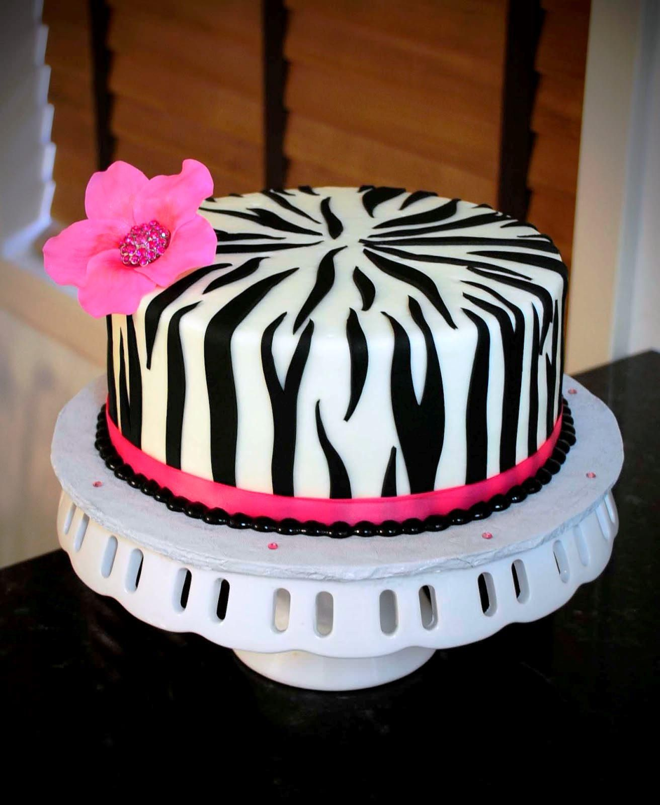 Peachy Zebra Birthday Cakes The Colorful Stripy Cake Funny Birthday Cards Online Overcheapnameinfo