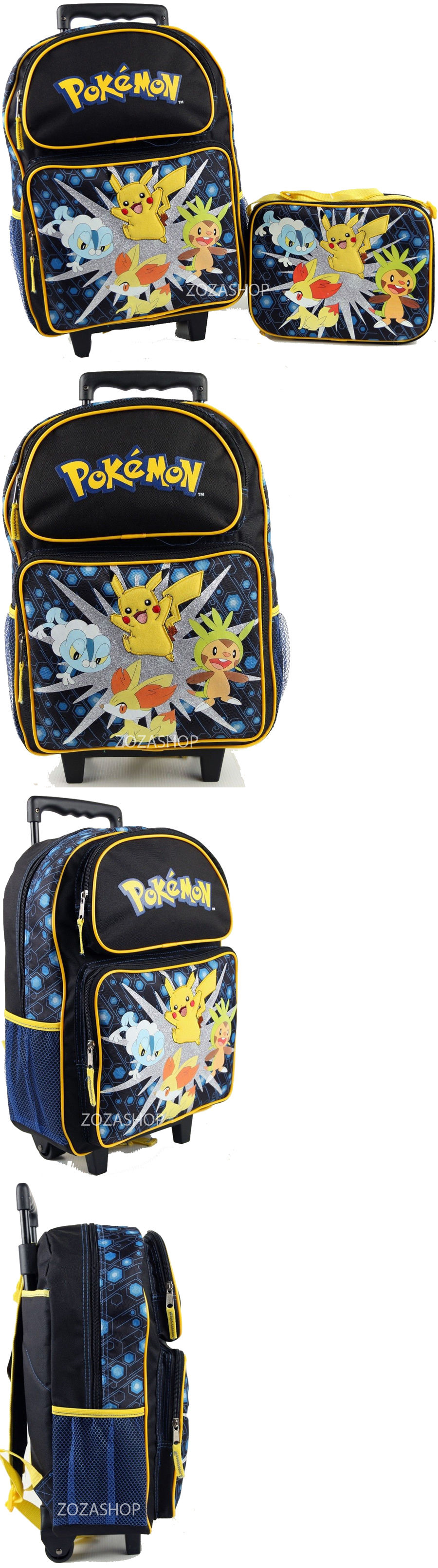951a228635a Backpacks and Bags 57882  Pokemon 16 Large Roller Backpack Lunch Bag 2Pc Rolling  Bag New