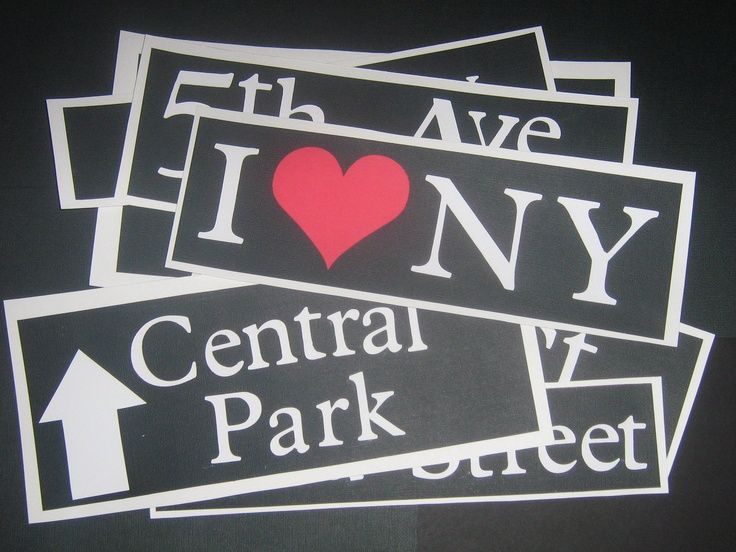 New York Party Decorations   love NY date: make bumper sticker, NY themed food, barefoot in the ...