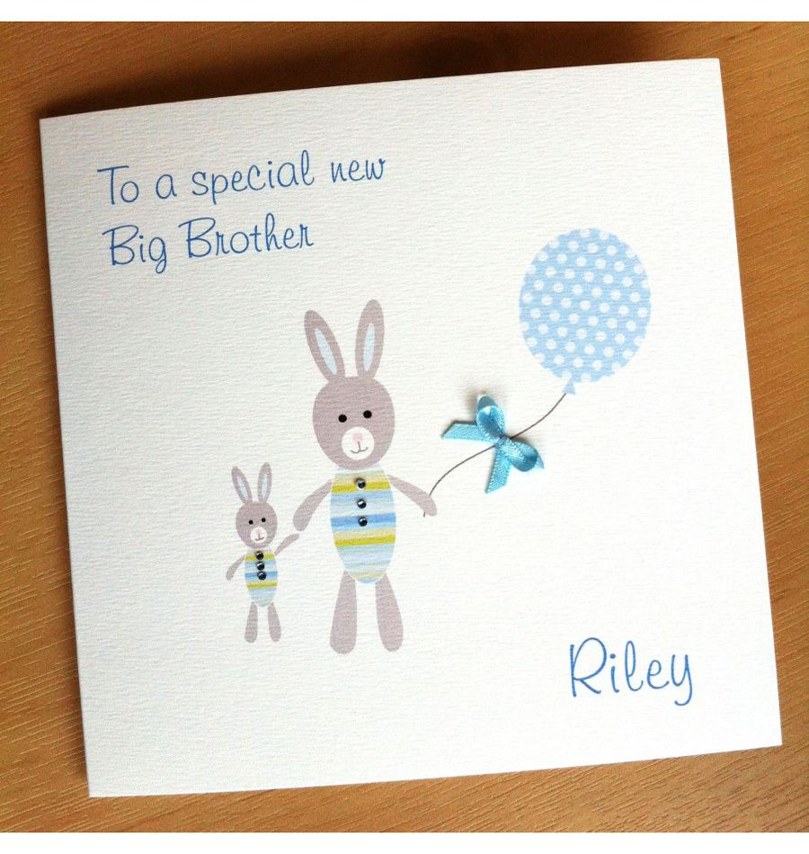 Handmade New Big Brother Card Birthday cards for brother
