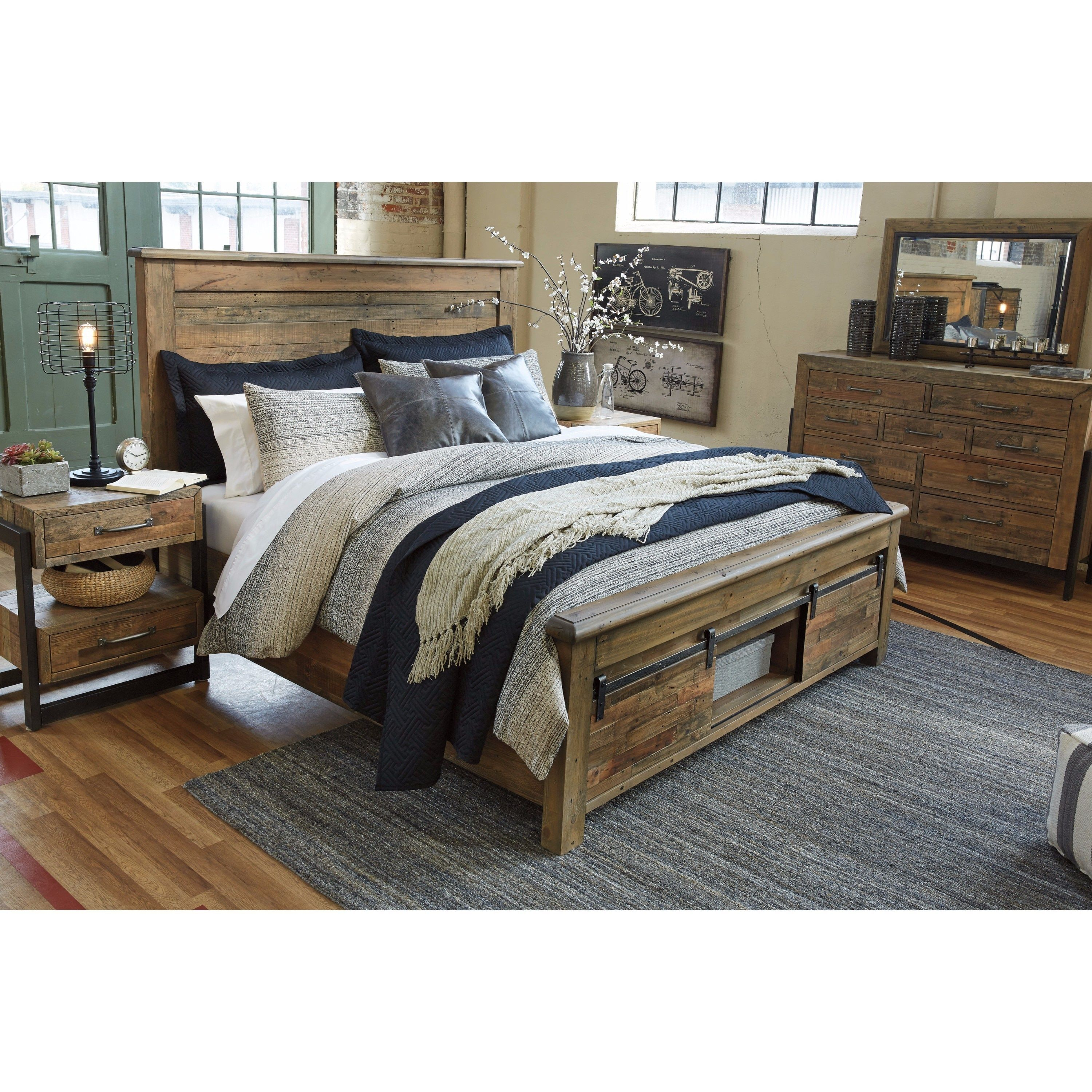 Signature Design By Ashley Sommerford Brown Storage Bed Bed