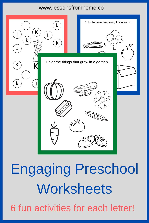 Preschool Worksheets Letter Activities Preschool Preschool Worksheets Fun Preschool Worksheets