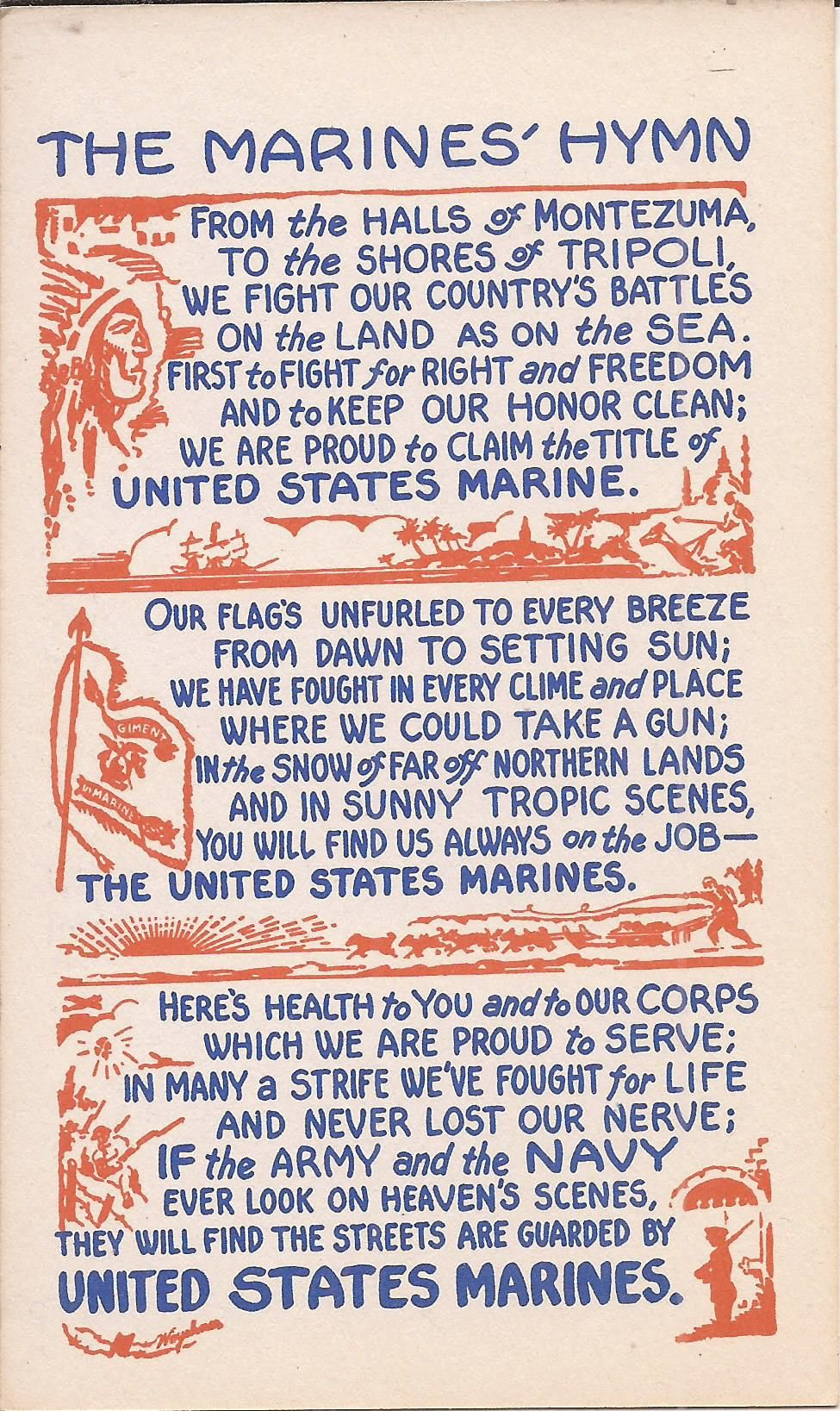 """The """"Marines' Hymn"""" is the official hymn of the United"""