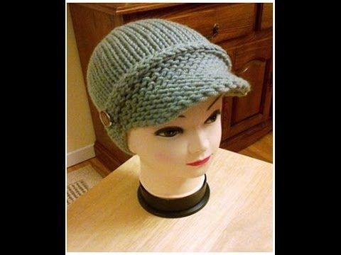 5 Newsboy Hat Visor Loom Knitted Addi Machine Part 2 Loom Knitting Loom Knitting Patterns Loom Knit Hat