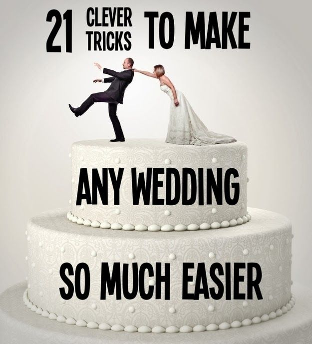 Diy Projects: 21 Clever Tricks To Make Any Wedding So Much Easier