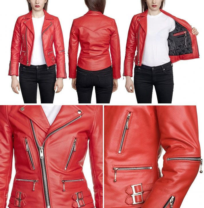 Straight Leather Jacket Designer Jackets