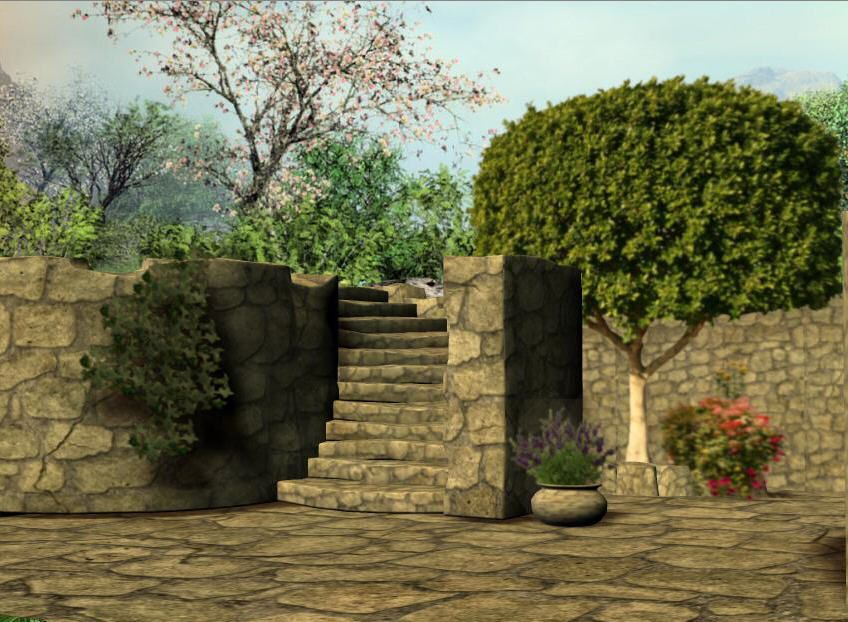 3d Background Stone Garden Garden Stones 3d Background Garden