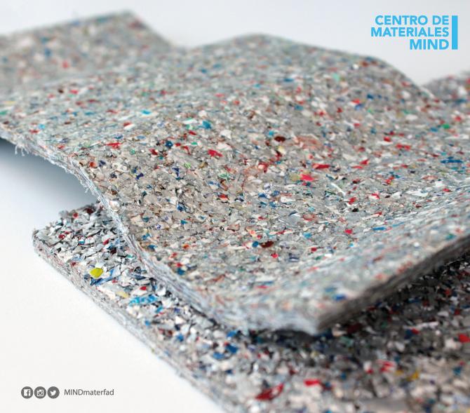 Ecolam aglomerado inerte que proviene de desperdicio - Materiales para techos falsos ...