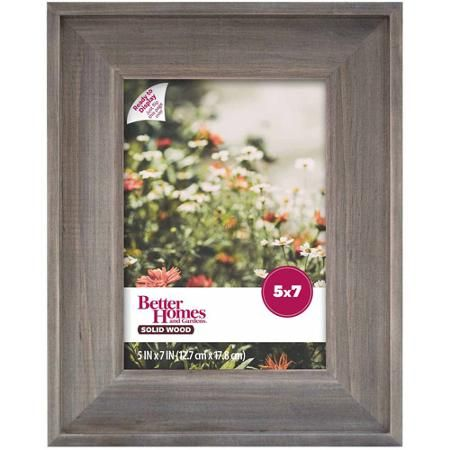 Better Homes and Gardens 5x7 Gallery Frame, Rustic Wood - Walmart ...